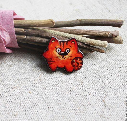 Броши ручной работы. Ярмарка Мастеров - ручная работа. Купить Брошь Кот рыжий. Handmade. Рыжий, брошь, рыжий кот