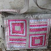 Сумки и аксессуары ручной работы. Ярмарка Мастеров - ручная работа сумка розовое панно. Handmade.