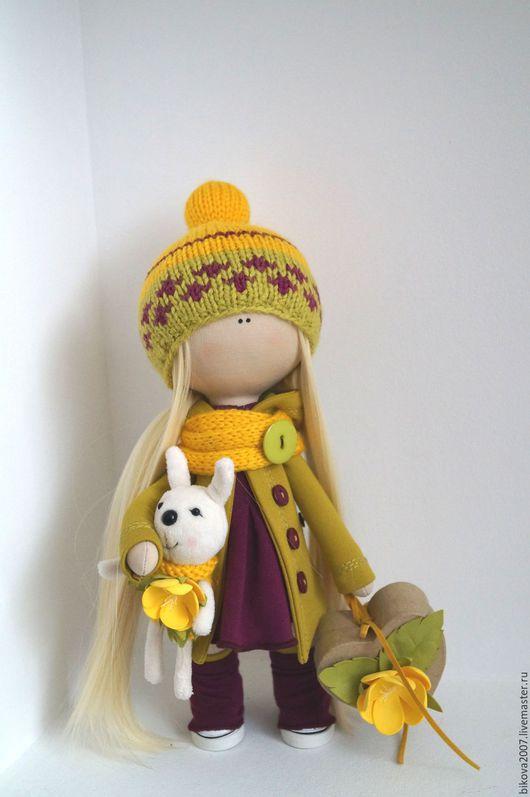 Куклы тыквоголовки ручной работы. Ярмарка Мастеров - ручная работа. Купить Интерьерная куколка. Handmade. Салатовый, хендмейд, пуговицы декоративные