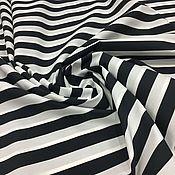 Ткани ручной работы. Ярмарка Мастеров - ручная работа Итальянская ткань Хлопок черно-белые полоски арт. 02-3903. Handmade.
