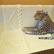 Для дома и интерьера handmade. Livemaster - original item Children`s plaid knitted Embossed, braids, milk. Handmade.