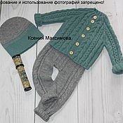 Работы для детей, ручной работы. Ярмарка Мастеров - ручная работа комплект Модник кофточка штанишки и шапочка. Handmade.