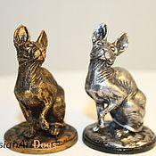 Для дома и интерьера ручной работы. Ярмарка Мастеров - ручная работа СФИНКС - статуэтка (оловянная миниатюрная фигурка кошки. Handmade.