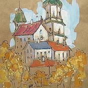 Картины и панно ручной работы. Ярмарка Мастеров - ручная работа Осень в городе. Handmade.