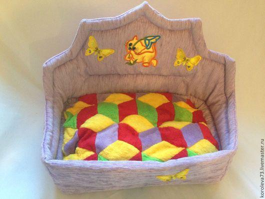 Для других животных, ручной работы. Ярмарка Мастеров - ручная работа. Купить Лежак-диванчик для кошки, собаки, хорька.. Handmade.