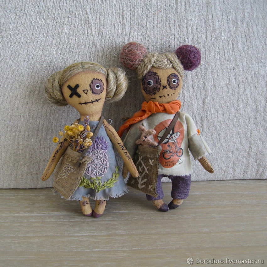 Карманные куклы Martin и Gretta, Чердачная кукла, Москва,  Фото №1