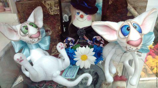 """Игрушки животные, ручной работы. Ярмарка Мастеров - ручная работа. Купить Котэ """"Платон"""". Handmade. Белый, кот, проволочный каркас"""