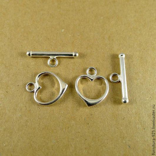 Для украшений ручной работы. Ярмарка Мастеров - ручная работа. Купить Серебряный замок для бус и браслетов из серебра 925 пробы. Handmade.