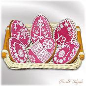 Подарки к праздникам ручной работы. Ярмарка Мастеров - ручная работа Пряничные пасхальные яйца, натуральный краситель. Handmade.