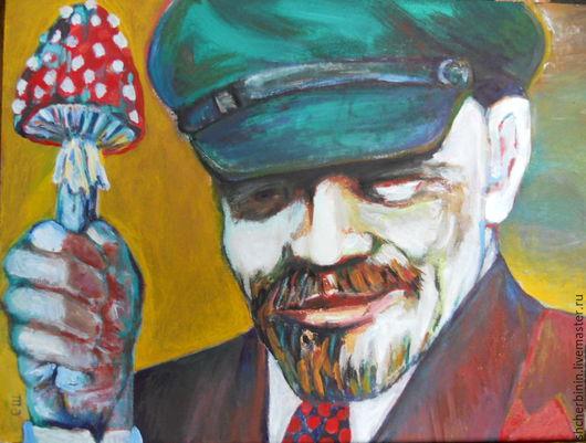 Юмор ручной работы. Ярмарка Мастеров - ручная работа. Купить картина Ай-да за грибами!. Handmade. Рыжий, грибы, революция