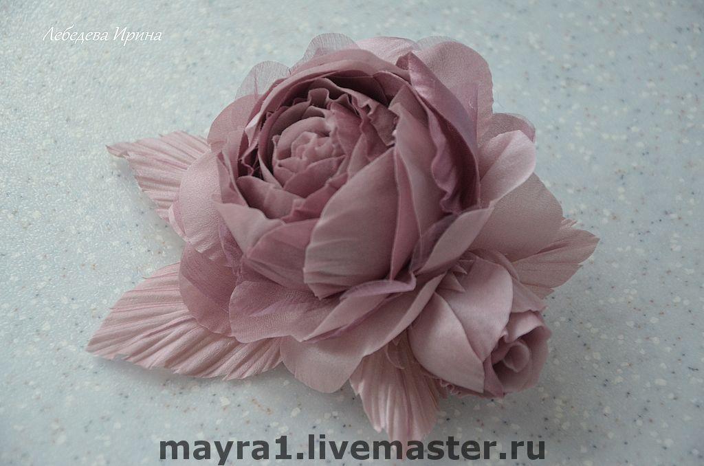 Цветы из шелка.Роза Николь, Цветы, Москва, Фото №1