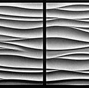 Дизайн и реклама ручной работы. Ярмарка Мастеров - ручная работа 3D панели Шелк 2 (парная). Handmade.