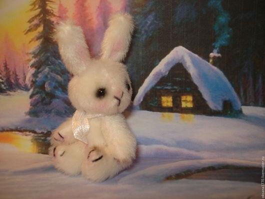 Мишки Тедди ручной работы. Ярмарка Мастеров - ручная работа. Купить Зайчик Изюмка. Handmade. Белый, заяц, подарок