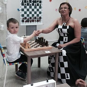 Одежда ручной работы. Ярмарка Мастеров - ручная работа Шахматная королева. Handmade.