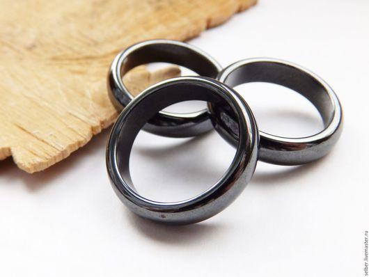 Кольца ручной работы. Ярмарка Мастеров - ручная работа. Купить Кольцо из магнитного гематита 21 размер. Handmade. Черный