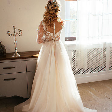 Свадебный салон ручной работы. Ярмарка Мастеров - ручная работа Свадебное платье Виктория. Handmade.