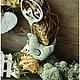 """Подвески ручной работы. Интерьерный венок  """"Сельская Идиллия"""". Грабова Мария *M.Mariya.S*. Интернет-магазин Ярмарка Мастеров."""