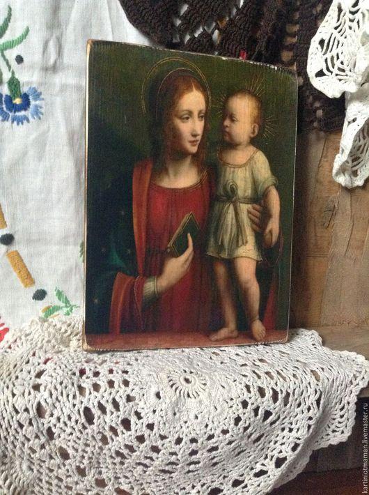 Иконы ручной работы. Ярмарка Мастеров - ручная работа. Купить Богоматерь с младенцем.. Handmade. Икона, религиозная живопись, подарок