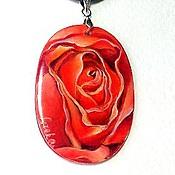 Украшения ручной работы. Ярмарка Мастеров - ручная работа Кулон. Сердце розы.. Handmade.