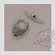 """Для украшений ручной работы. Застёжка тогл круглая серебряная """"Африка"""". GalA beads. Интернет-магазин Ярмарка Мастеров. Фурнитура"""