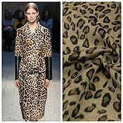 Материалы для творчества handmade. Livemaster - original item Fabric: THE OVERCOAT PILE - LEOPARD - EURO-TEX SRL. Handmade.