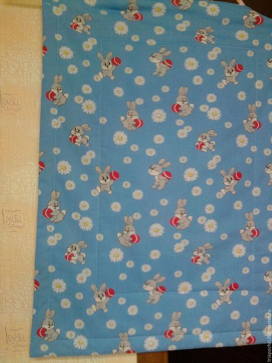 Детская ручной работы. Ярмарка Мастеров - ручная работа. Купить детское одеяло/покрывало. Handmade. Голубой, детское покрывало, подарок
