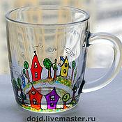 """Посуда ручной работы. Ярмарка Мастеров - ручная работа Стакан """"Город"""". Handmade."""