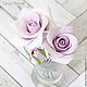 Заколки ручной работы. Набор шпилек с розами - Сиреневые (4 шт). Tanya Flower. Ярмарка Мастеров. Цветы в прическу