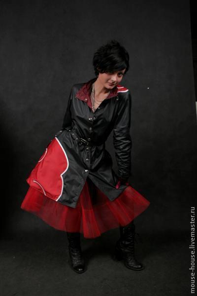 Карнавальные костюмы ручной работы. Ярмарка Мастеров - ручная работа. Купить Плащ стиллизация под плащ-акацуки с юбкой-сеткой.. Handmade.