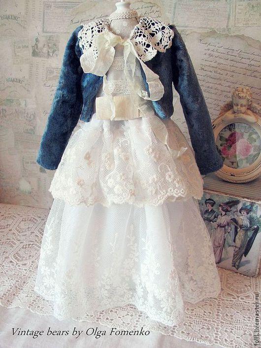 Одежда для кукол ручной работы. Ярмарка Мастеров - ручная работа. Купить Жакет для куклы БЖД 45 см. Handmade. Синий