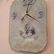 """Для дома и интерьера ручной работы. Ярмарка Мастеров - ручная работа Часы настенные """"Время ангелов"""". Handmade."""