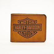 Сумки и аксессуары handmade. Livemaster - original item Wallet genuine leather. Eternal (Harley- Davidson). Handmade.