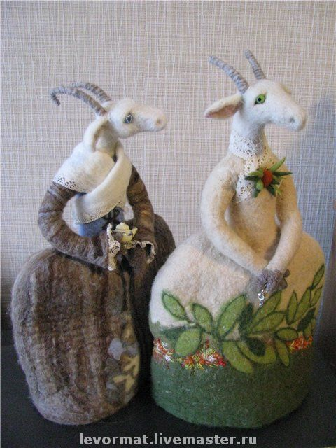 Сказочные персонажи ручной работы. Ярмарка Мастеров - ручная работа. Купить Грелки на чайник. Handmade. Коза, деревня, чай, ирис