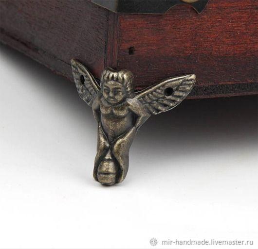 Комплект ножек для шкатулки N-003, Декор для декупажа и росписи, Чехов,  Фото №1