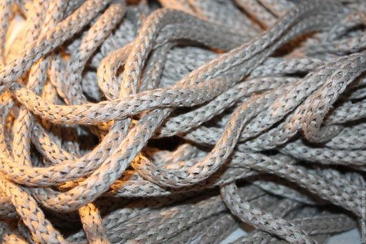 Шитье ручной работы. Ярмарка Мастеров - ручная работа. Купить Льняной шнур (широкий). Handmade. Серый, шнур льняной