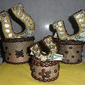 Подарки к праздникам ручной работы. Ярмарка Мастеров - ручная работа Кофейные подковки. Handmade.