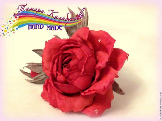 """Персональные подарки ручной работы. Ярмарка Мастеров - ручная работа. Купить Роза """"Таис"""", украшение для волос или бошь. Handmade."""