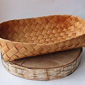 Посуда handmade. Livemaster - original item Plates: large birch bark plate.. Handmade.