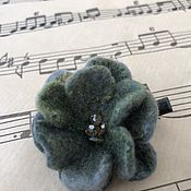 Украшения handmade. Livemaster - original item Dusty jade hair clip. Handmade.
