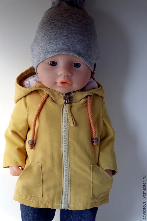 Одежда для кукол ручной работы. Ярмарка Мастеров - ручная работа. Купить Куртка и шапка для пупса, а-ля Беби  Бон. Handmade.