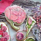 Пряники ручной работы. Ярмарка Мастеров - ручная работа Набор пряников с цветами маме. Handmade.