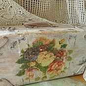 Для дома и интерьера ручной работы. Ярмарка Мастеров - ручная работа Чемодан,чемоданчик-розы,ретро.. Handmade.