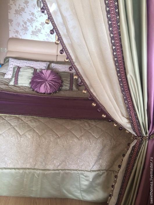 Текстиль, ковры ручной работы. Ярмарка Мастеров - ручная работа. Купить Текстильное оформление спальни. Handmade. Разноцветный, декор для интерьера