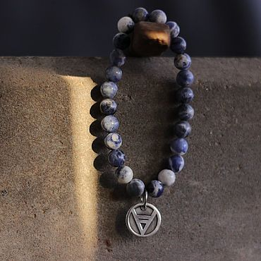 Украшения ручной работы. Ярмарка Мастеров - ручная работа Браслет  велес из натурального камня  ручной работы  и серебра. Handmade.