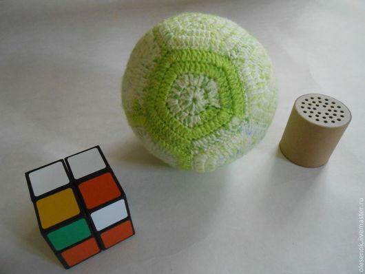Развивающие игрушки ручной работы. Ярмарка Мастеров - ручная работа. Купить Мячик-погремушка с ревуном (Модель ММ03/01). Handmade. погремушка
