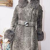 Одежда ручной работы. Ярмарка Мастеров - ручная работа Шуба Серебро ,свакара, 46-48 размер, берет и сумка. Handmade.
