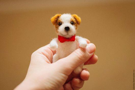 Мишки Тедди ручной работы. Ярмарка Мастеров - ручная работа. Купить Тедди собачка Джек рассел терьер с подвижными лапками. Handmade.