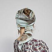 Платки ручной работы. Ярмарка Мастеров - ручная работа Шелковая накидка ручного окрашивания. Handmade.