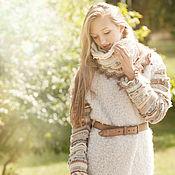 Одежда ручной работы. Ярмарка Мастеров - ручная работа Пальто и снуд вязанные спицами Вдохновение. Handmade.