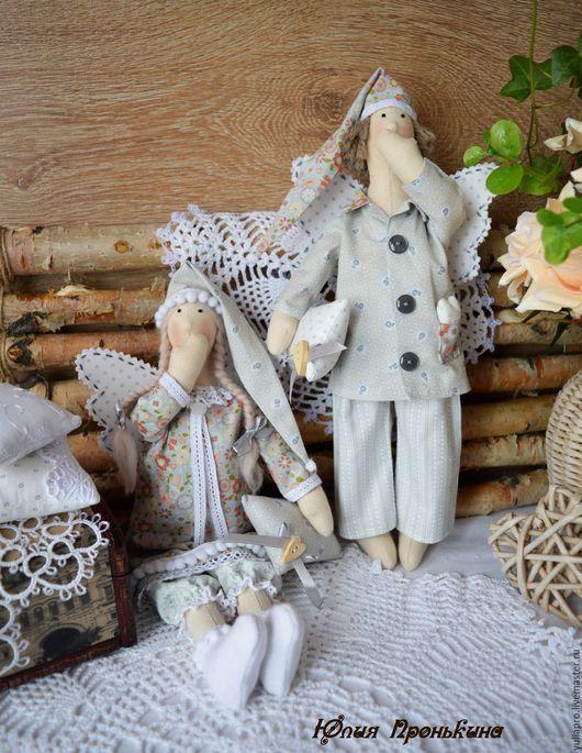 Куклы Тильды ручной работы. Ярмарка Мастеров - ручная работа. Купить Сонные ангелы сплюшки - куклы текстильные в стиле Тильда в подарок. Handmade.